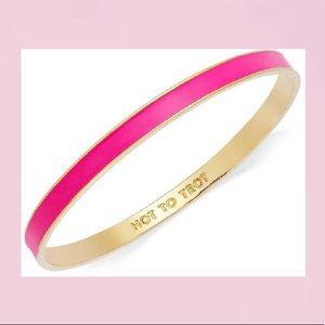 Kate Spade ♠️ NWOT Hot Pink & Gold Bangle